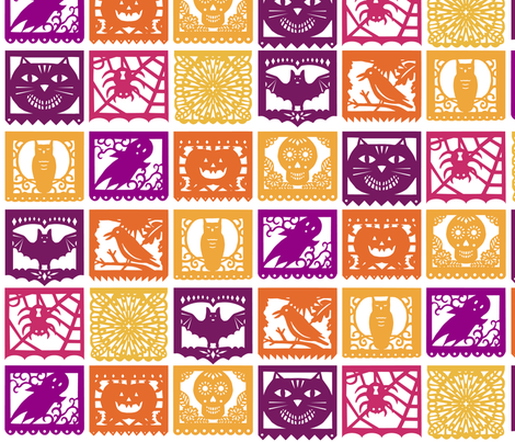 Halloween Papel Picados - Plain fabric by lellobird on Spoonflower - custom fabric