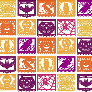 Halloween Papel Picados - Plain