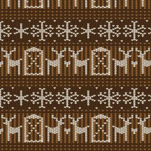 Reindeer barn brown 8x8
