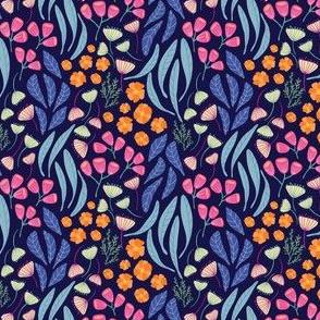 Wildflower Bunch_navy