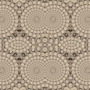 Sandy Beige Fractal Spiral