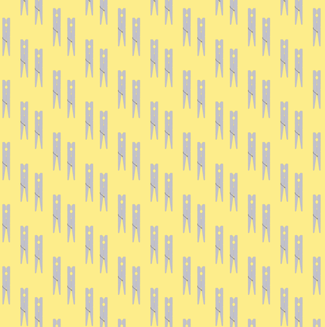 Paired Clothespins | Bee Dance fabric by lochnestfarm on Spoonflower - custom fabric