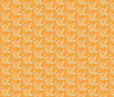 Chicken Little fabric by heather_ota on Spoonflower - custom fabric
