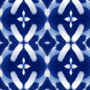 Brushed Cottage Blue + White