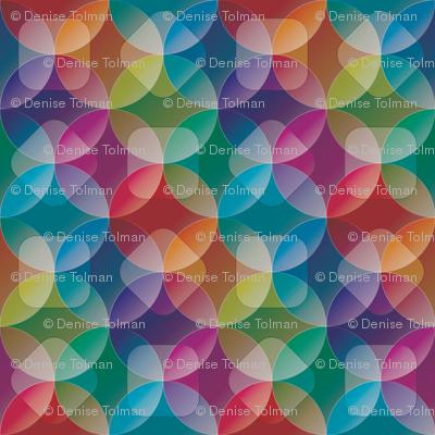 Rainbow See Through Circles Full