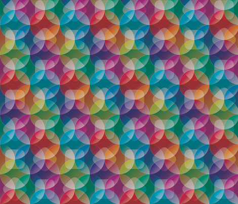 Rainbow See Through Circles Full fabric by fabric_is_my_name on Spoonflower - custom fabric