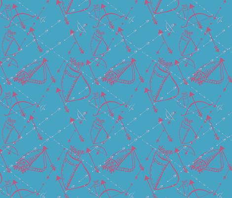 150RGB - Arrows 2 fabric by jezpokili on Spoonflower - custom fabric