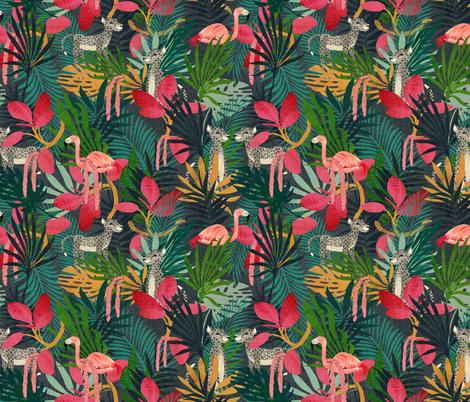tropical lush Jungle fabric by katherine_quinn on Spoonflower - custom fabric