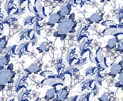 Chinoiserie Swans