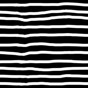 Black and White Horizontal Stripes
