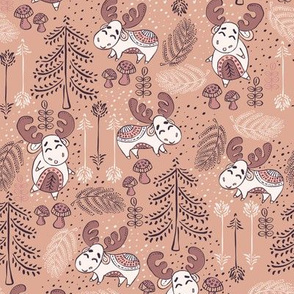 Moose Wonder Woodland in Light Vintage Purple