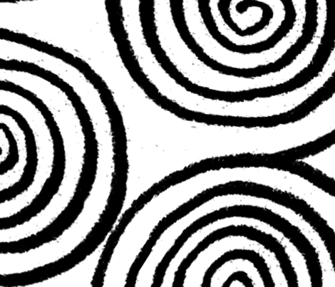 Black and White Swirls fabric by lanrete58 on Spoonflower - custom fabric