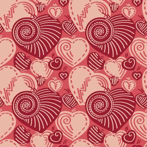 Heart Shells - Feminine