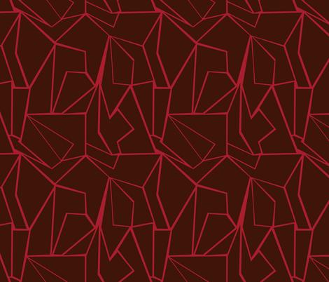 Valentine Lava RGB fabric by jezpokili on Spoonflower - custom fabric