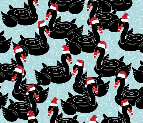 A very Perth Christmas fabric by booboo_collective on Spoonflower - custom fabric