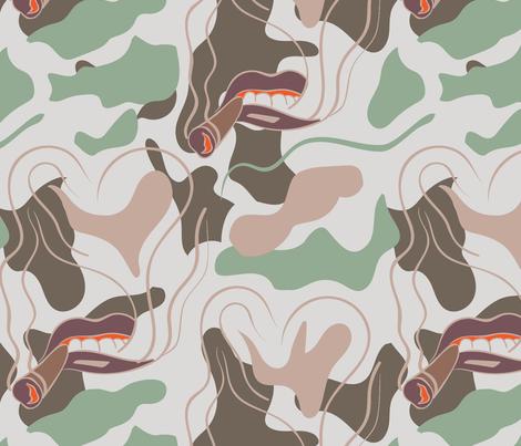 420 LOVE CAMO  fabric by studio_lcy on Spoonflower - custom fabric