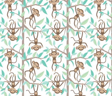 Monkey Jungle - bidirectional fabric by heleenvanbuul on Spoonflower - custom fabric