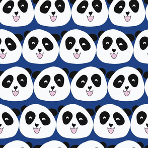 Panda Bear Faces Blue