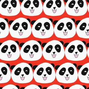 Panda Bears Red