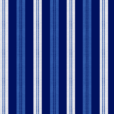 The Blues Stripes 3 fabric by anniedeb on Spoonflower - custom fabric