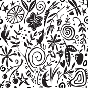 Black & White Papercut Silhouettes
