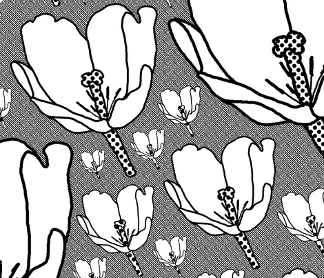 tulipsd fabric by the_hoarder's_art_room on Spoonflower - custom fabric