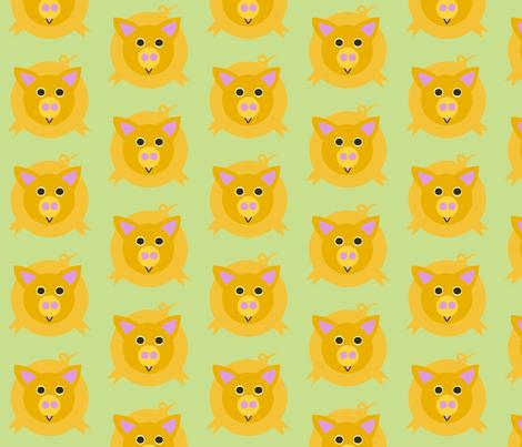Piggy Wiggly fabric by heather_ota on Spoonflower - custom fabric