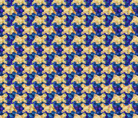 Cosmic trotting Tibetan Terriers - night fabric by rusticcorgi on Spoonflower - custom fabric