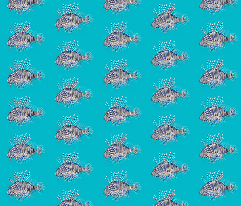 Lionfish, pretty but invasive species - mid size fabric by lisakling on Spoonflower - custom fabric
