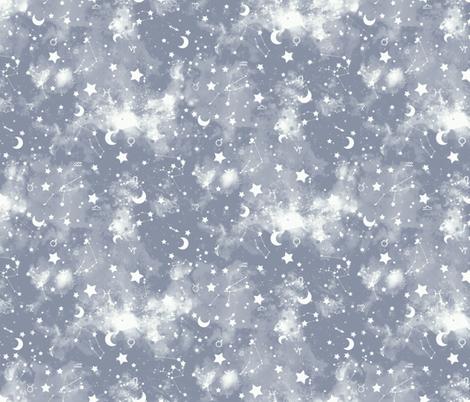 Zodiac Gray Slate fabric by mjmstudio on Spoonflower - custom fabric