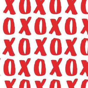 XO - Hugs and Kisses - Red