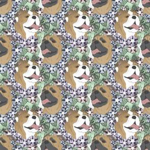 Floral Bulldog portraits B