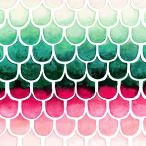 Retro Melon Mermaid Scales