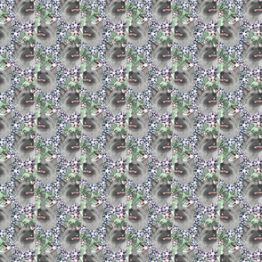 Floral Norwegian Elkhound portraits - small