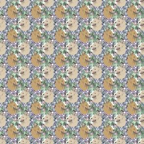Floral Schipperke portraits B - small