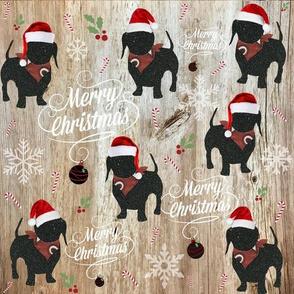 farmhouse doxie Christmas