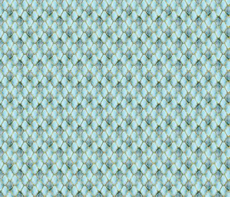 Small Golden cracked ice Gemstone Dragon Scales fabric by rusticcorgi on Spoonflower - custom fabric