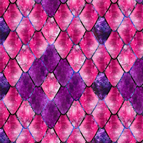 Dark Fuchsia Gemstone Dragon Scales