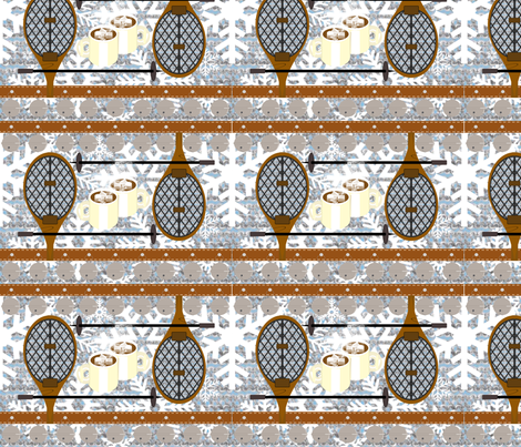 Sleigh Bells, Snowshoes and Coco  fabric by kae50 on Spoonflower - custom fabric