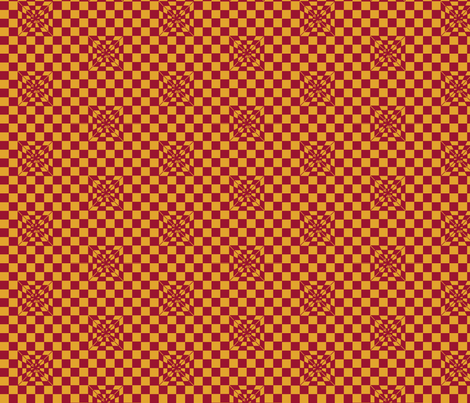 Pyramid Jester red and Mango fabric by zandloopster on Spoonflower - custom fabric