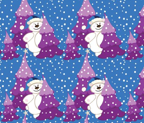 XMAS Holiday Bear  fabric by jezpokili on Spoonflower - custom fabric