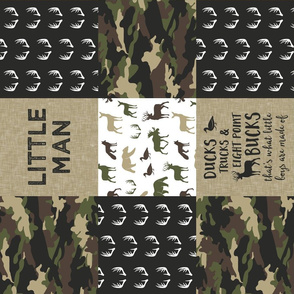 Little Man - Ducks, Trucks, and Eight Point Bucks - Woodland wholecloth Camo - C2 C18BS (90)
