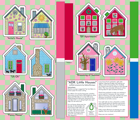 adk little house ornaments fabric by lalalamonique on Spoonflower - custom fabric