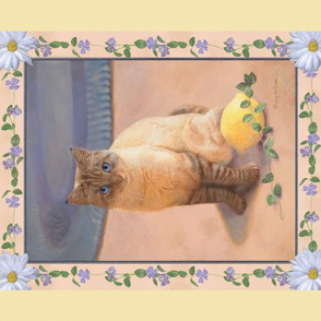 Panel of Ragdoll Cat on Soft Yellow