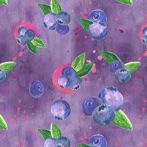 Juicy Blueberries in Purple