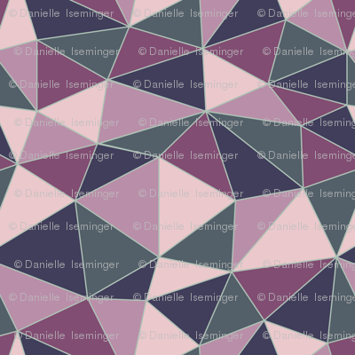 Navy and Orchid triangles