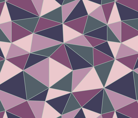 Navy and Orchid triangles fabric by diseminger on Spoonflower - custom fabric