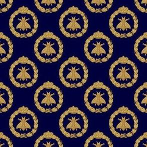 Napoleonic Bees ~ Faux Gilt on Trafalgar