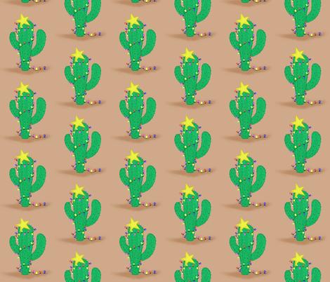 Christmas Cactus fabric by linzmiller on Spoonflower - custom fabric