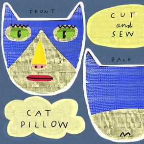 """10"""" Tuxedo Cat Pillow"""